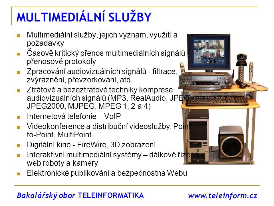 www.teleinform.cz MULTIMEDIÁLNÍ SLUŽBY Multimediální služby, jejich význam, využití a požadavky Časově kritický přenos multimediálních signálů - přeno