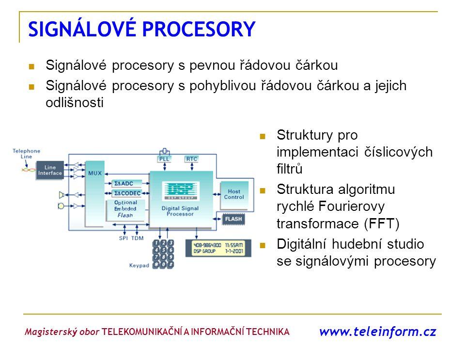 www.teleinform.cz SIGNÁLOVÉ PROCESORY Signálové procesory s pevnou řádovou čárkou Signálové procesory s pohyblivou řádovou čárkou a jejich odlišnosti
