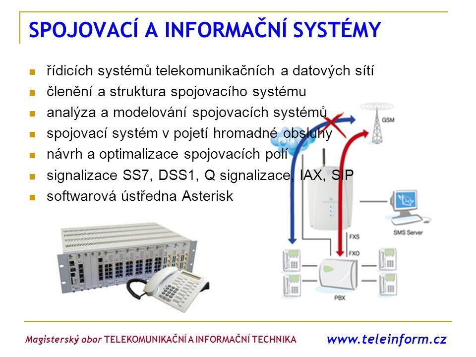www.teleinform.cz SPOJOVACÍ A INFORMAČNÍ SYSTÉMY řídicích systémů telekomunikačních a datových sítí členění a struktura spojovacího systému analýza a