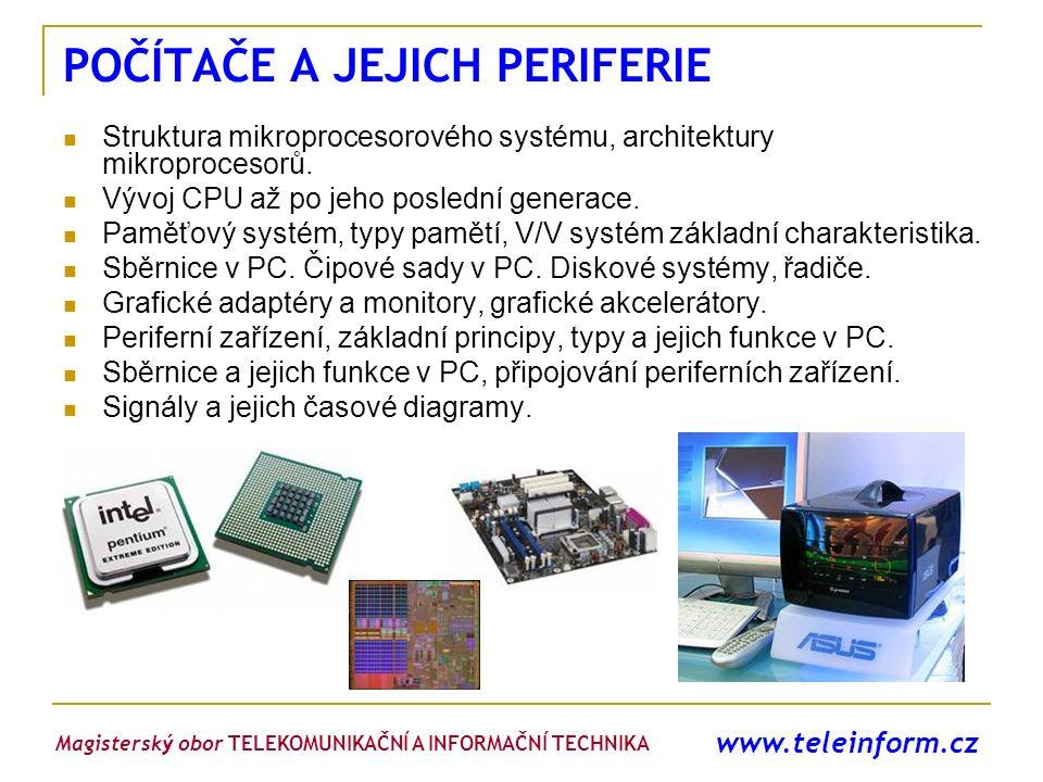 www.teleinform.cz POČÍTAČE A JEJICH PERIFERIE Struktura mikroprocesorového systému, architektury mikroprocesorů. Vývoj CPU až po jeho poslední generac