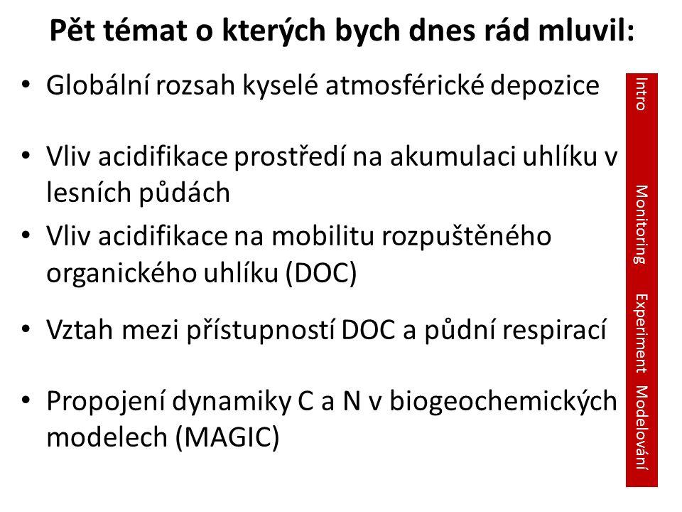 Celková depozice S (mg m -2 yr -1 ) 2000 Celková depozice N (mg m -2 yr -1 ) 2000 Dentener F.