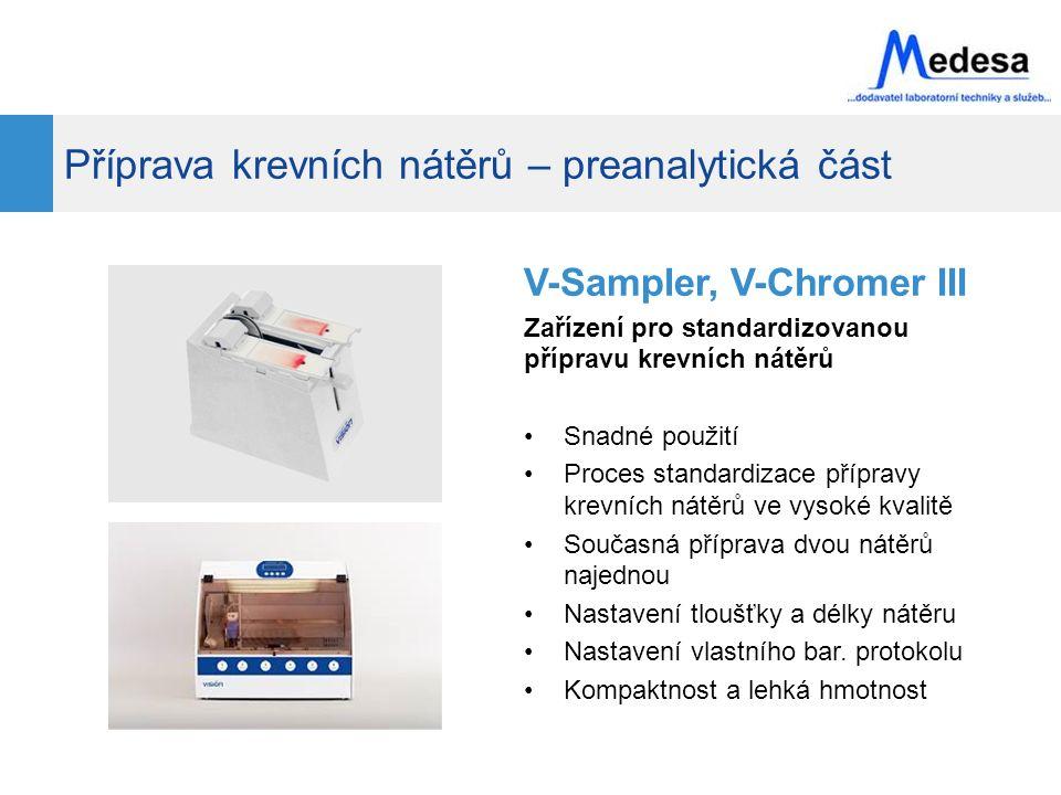 Vision Hema – co umí Automatické snímání obrázků krevních buněk WBC a RBC kamerou Morfologická analýza krevních buněk Automatický pohyb motorického stolku (pouze VH Assist) Tvorba reportů Funkce scanneru Archivace a sdílení výsledků