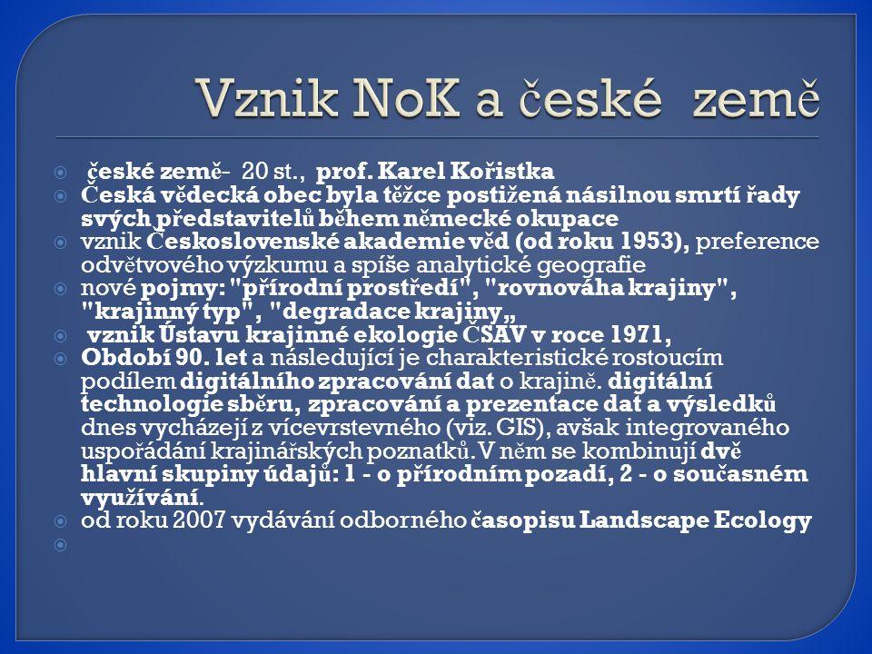  č eské zem ě - 20 st., prof.