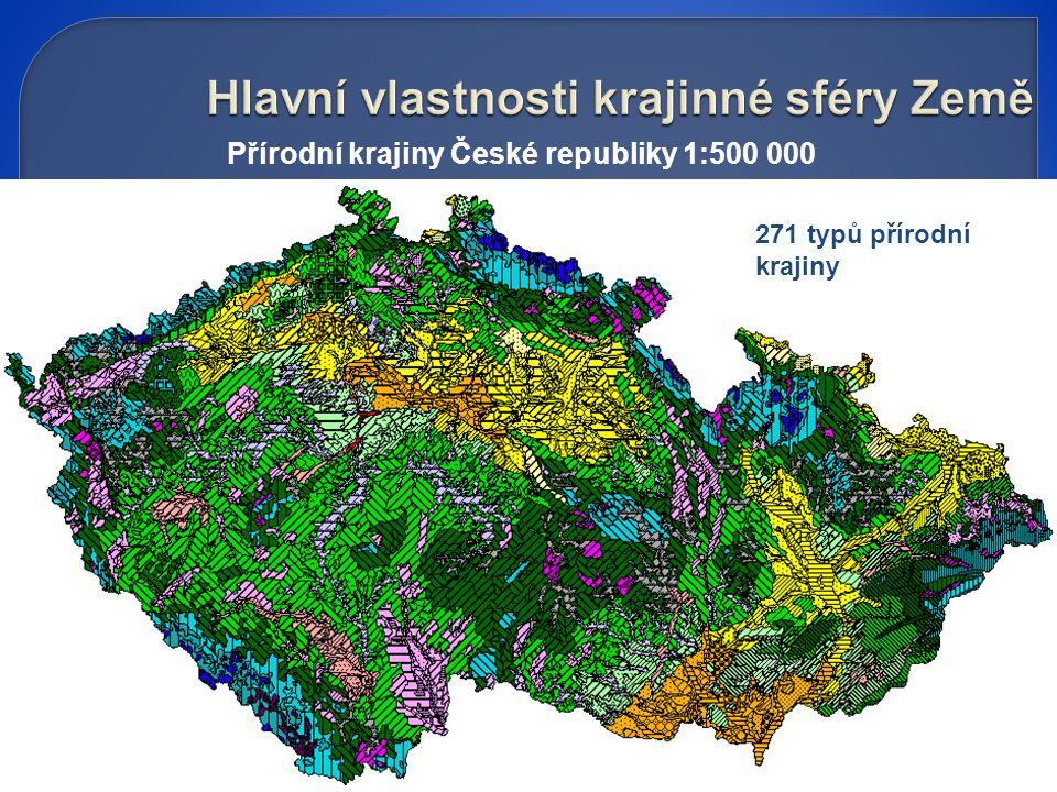 Přírodní krajiny České republiky 1:500 000 271 typů přírodní krajiny