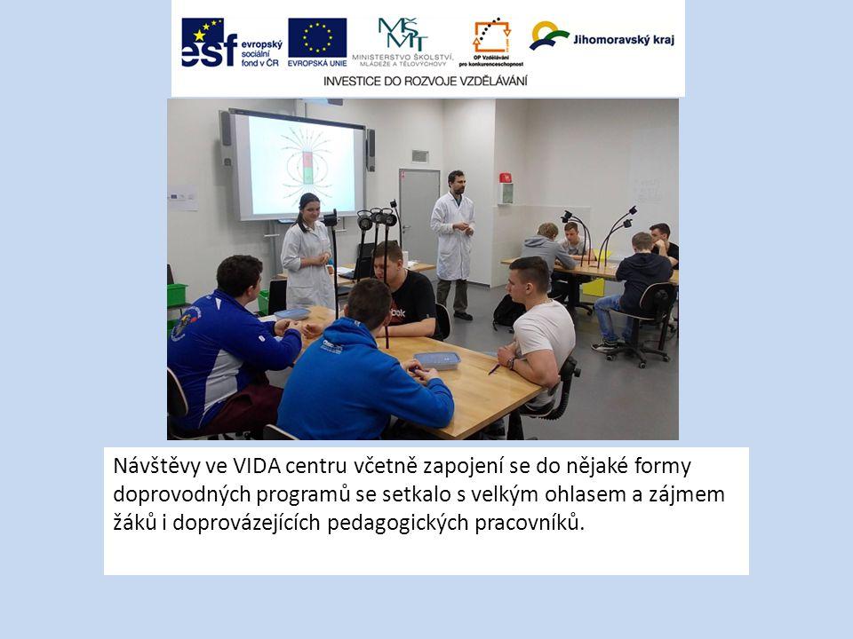 Návštěvy ve VIDA centru včetně zapojení se do nějaké formy doprovodných programů se setkalo s velkým ohlasem a zájmem žáků i doprovázejících pedagogických pracovníků.