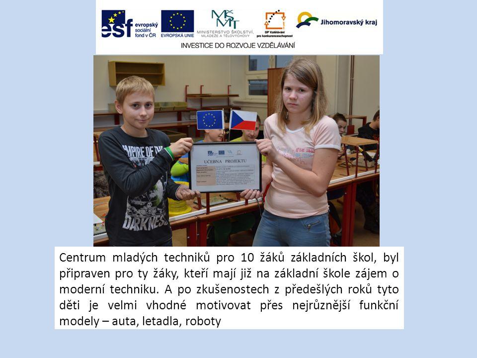 Centrum mladých techniků pro 10 žáků základních škol, byl připraven pro ty žáky, kteří mají již na základní škole zájem o moderní techniku.
