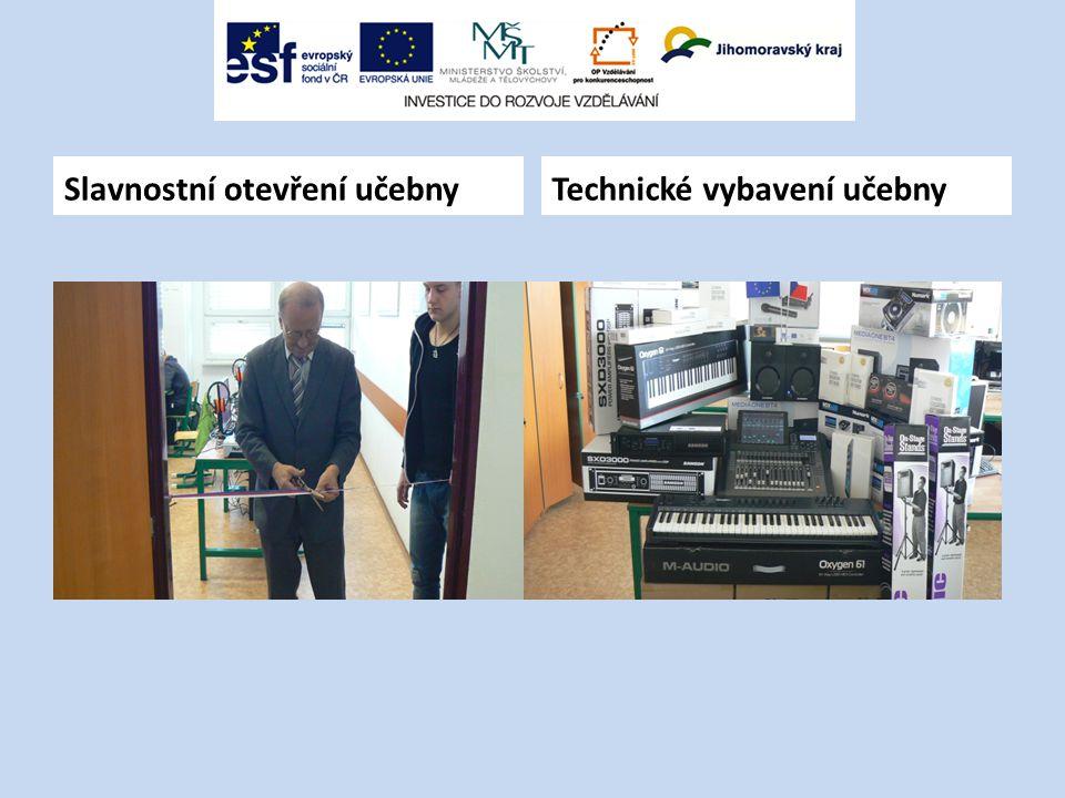 Slavnostní otevření učebny Technické vybavení učebny