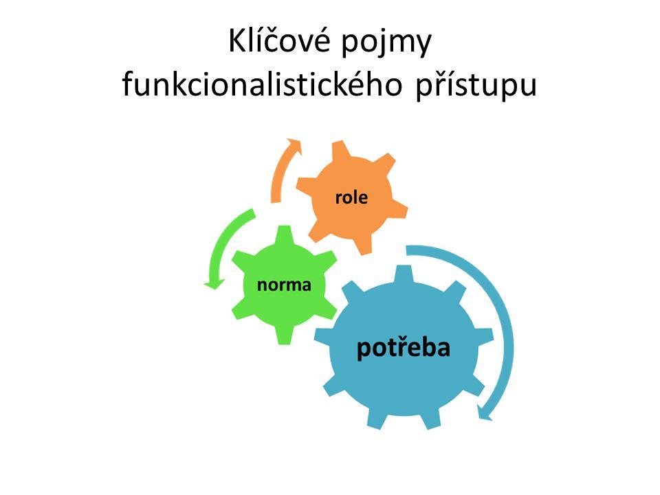 Klíčové pojmy funkcionalistického přístupu
