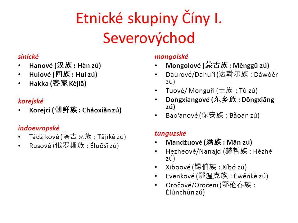 Etnické skupiny Číny I.