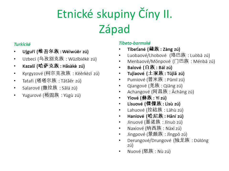 Etnické skupiny Číny II.