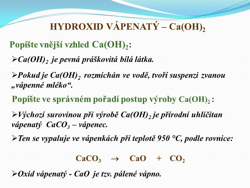 Vyjmenujte příklady průmyslového využití hydroxidu draselného:  KOH se používá především jako činidlo v potravinářském průmyslu při výrobě kakaa a čokolády.