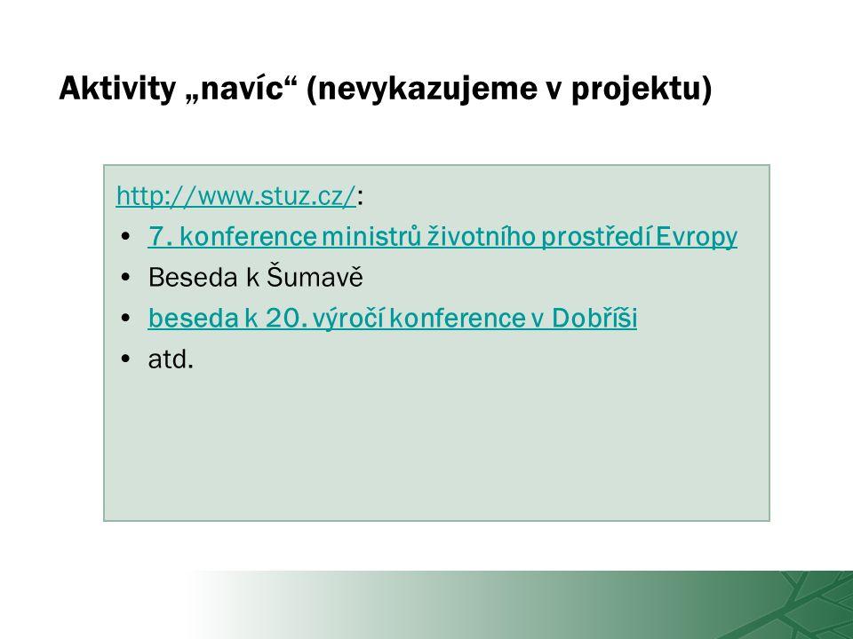 """Aktivity """"navíc (nevykazujeme v projektu) http://www.stuz.cz/http://www.stuz.cz/: 7."""