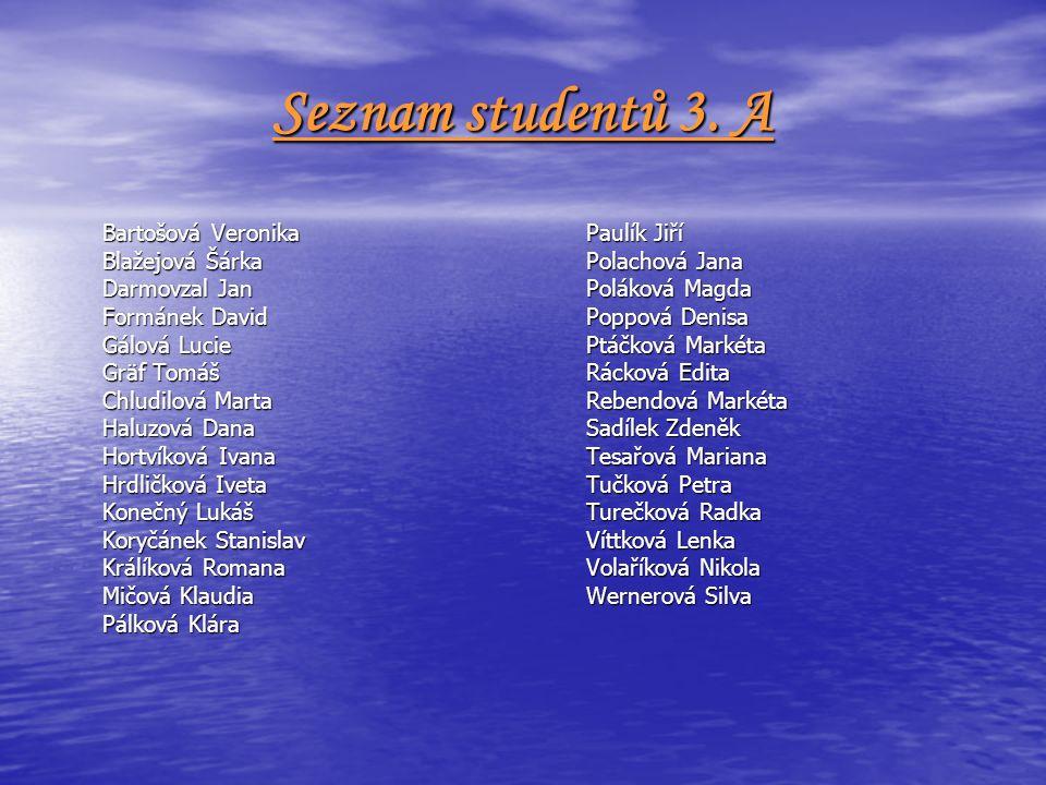 Seznam studentů 3.