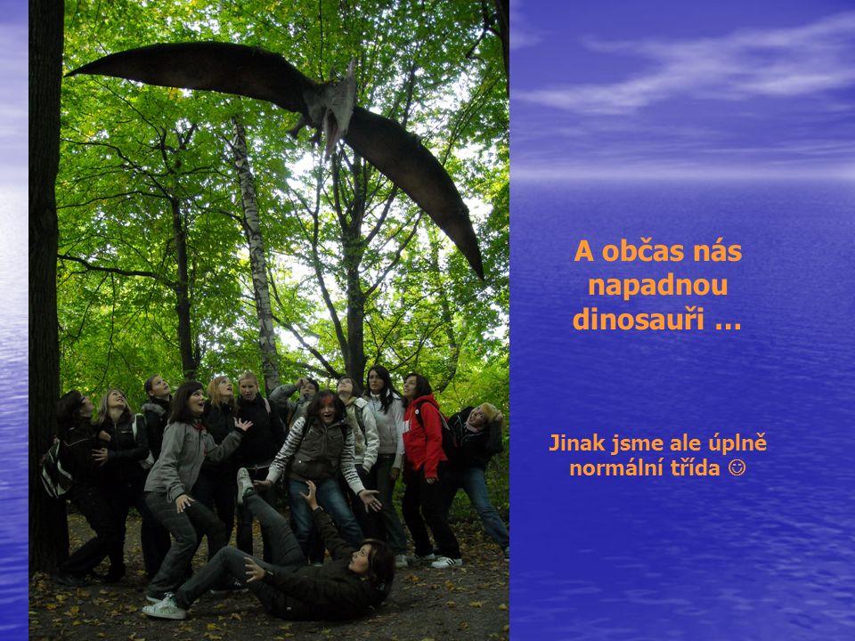 A občas nás napadnou dinosauři … Jinak jsme ale úplně normální třída