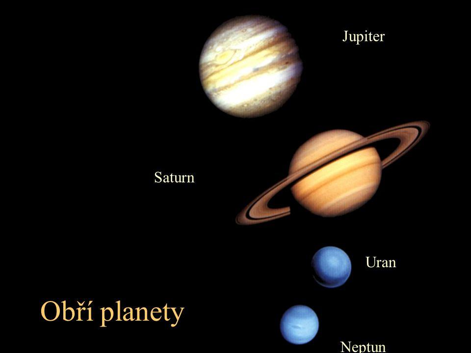 Obří planety Jupiter Saturn Uran Neptun