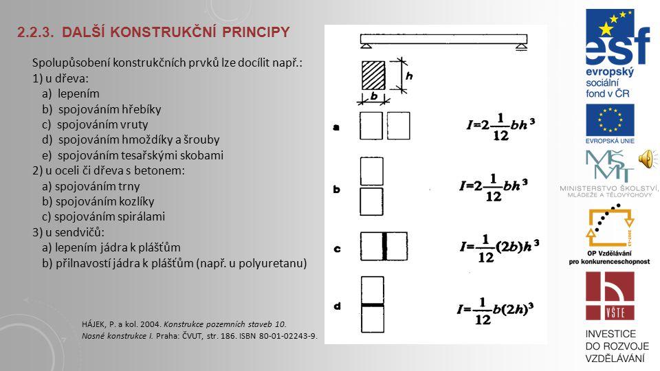 2.2.3. DALŠÍ KONSTRUKČNÍ PRINCIPY b) Předpětí ohýbané konstrukce - vnášení napětí opačného charakteru než je napětí, vzniklé vnějším zatížením Excentr