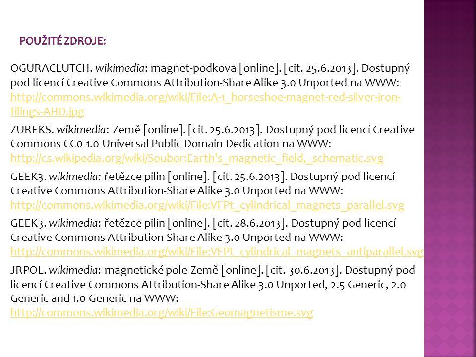 OGURACLUTCH. wikimedia: magnet-podkova [online]. [cit. 25.6.2013]. Dostupný pod licencí Creative Commons Attribution-Share Alike 3.0 Unported na WWW: