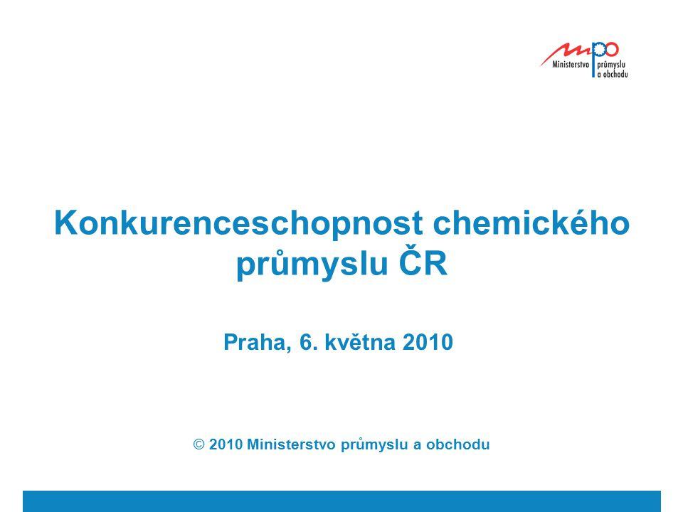 Konkurenceschopnost chemického průmyslu ČR Praha, 6. května 2010 © 2010 Ministerstvo průmyslu a obchodu