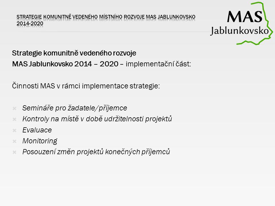 Strategie komunitně vedeného rozvoje MAS Jablunkovsko 2014 – 2020 – implementační část: Činnosti MAS v rámci implementace strategie:  Semináře pro ža