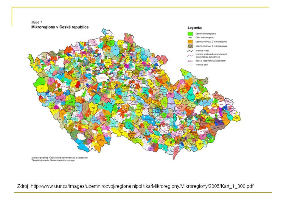 Zdroj: http://www.uur.cz/images/uzemnirozvoj/regionalnipolitika/Mikroregiony/Mikroregiony/2005/Kart_1_300.pdf