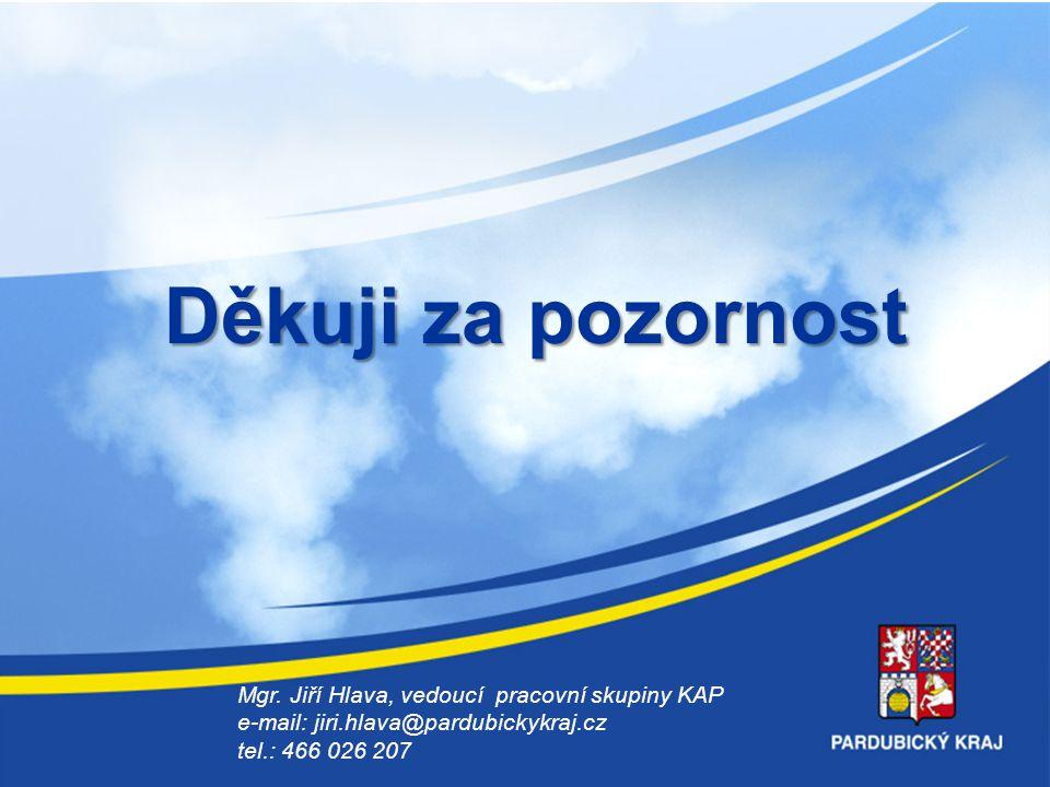 16 Děkuji za pozornost Mgr. Jiří Hlava, vedoucí pracovní skupiny KAP e-mail: jiri.hlava@pardubickykraj.cz tel.: 466 026 207