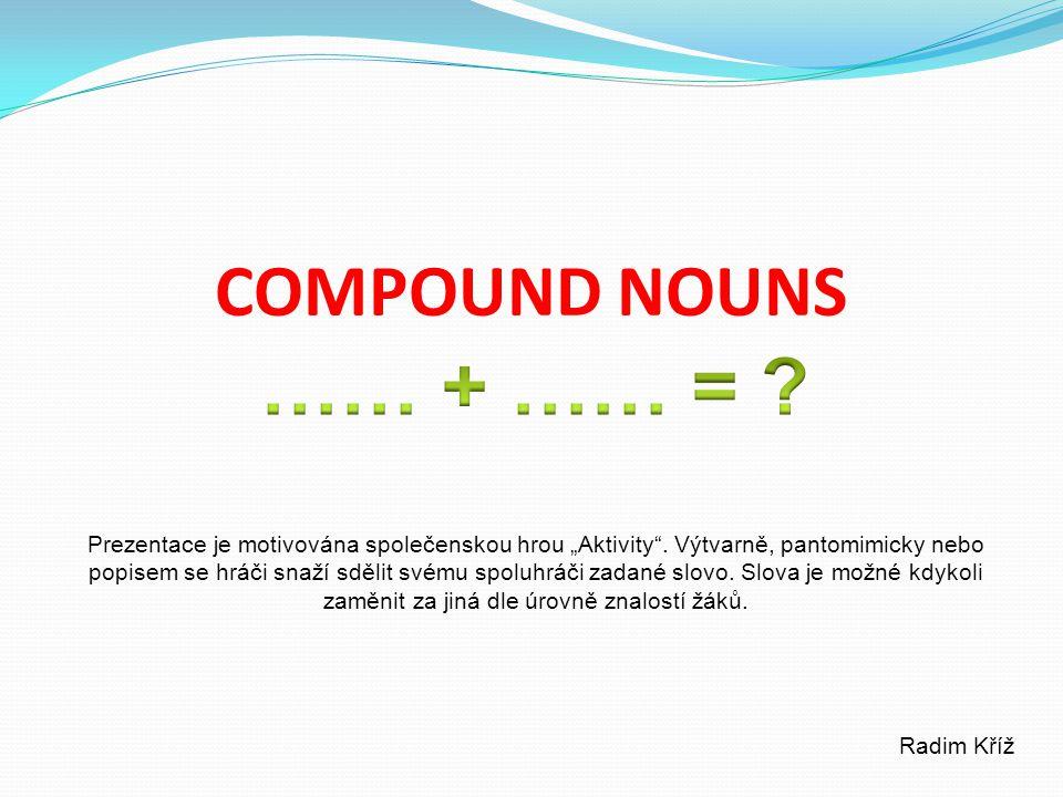 """COMPOUND NOUNS Prezentace je motivována společenskou hrou """"Aktivity ."""