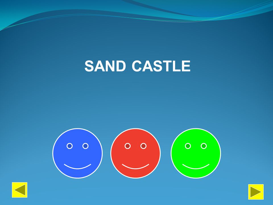 PERFORM PAINT DESCRIBE SAND CASTLE