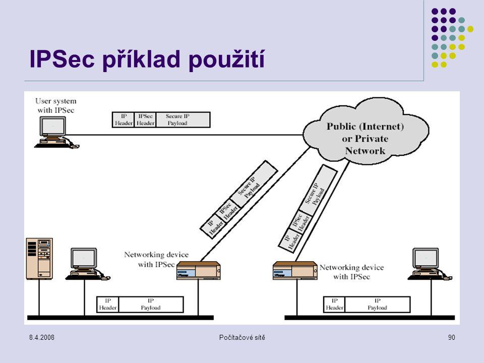 8.4.2008Počítačové sítě90 IPSec příklad použití