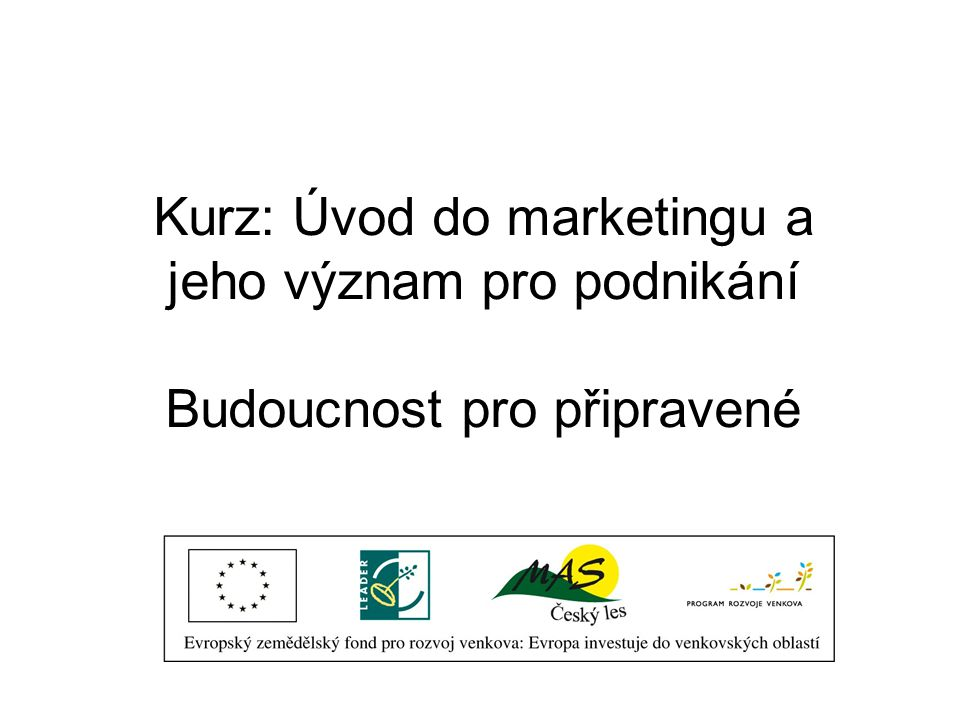Co je marketing??.