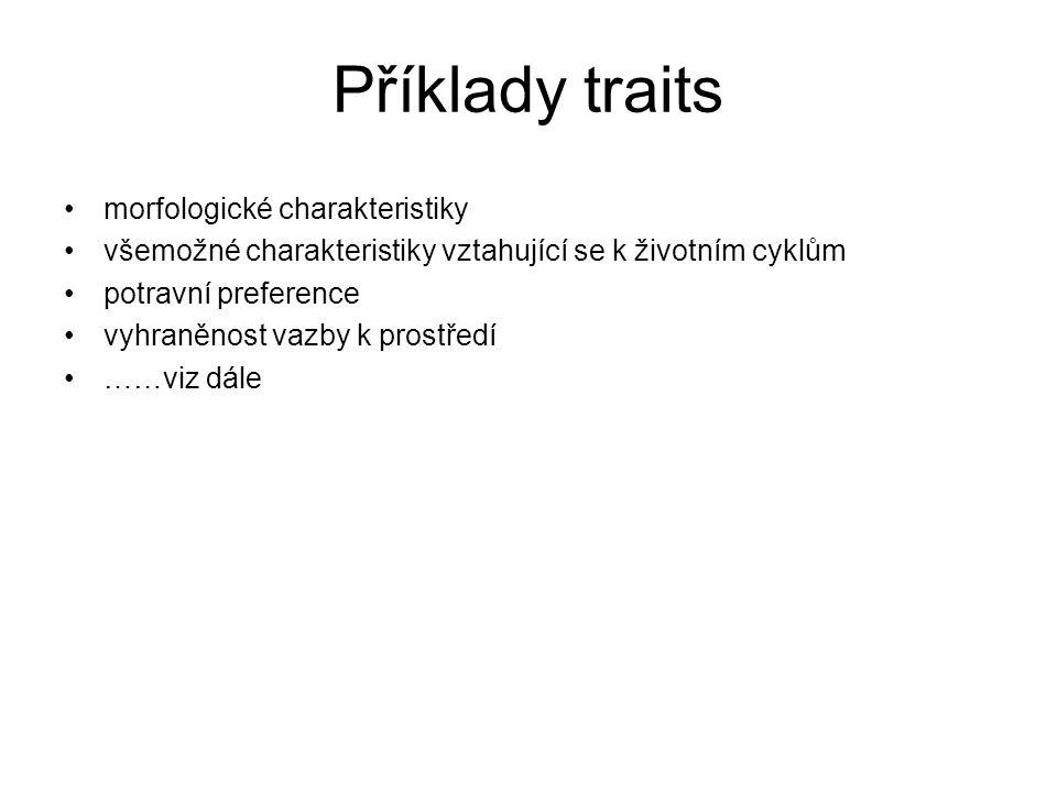 Stresory a traits II.