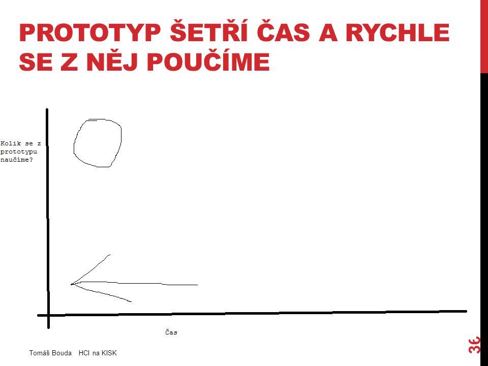 PROTOTYP ŠETŘÍ ČAS A RYCHLE SE Z NĚJ POUČÍME Tomáš Bouda HCI na KISK 36