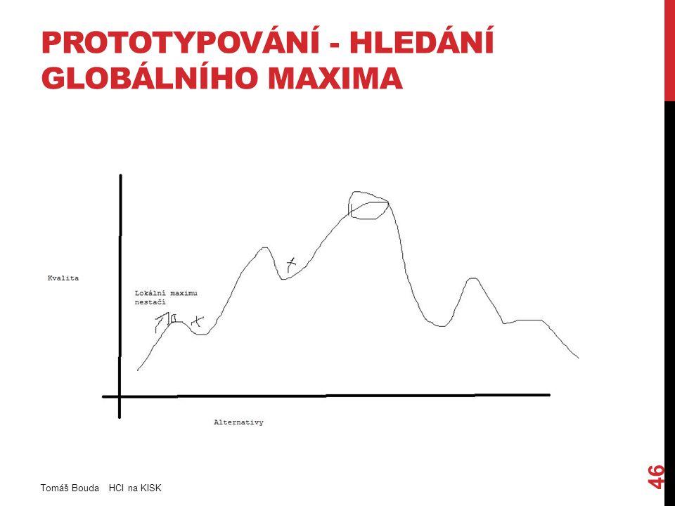 PROTOTYPOVÁNÍ - HLEDÁNÍ GLOBÁLNÍHO MAXIMA Tomáš Bouda HCI na KISK 46