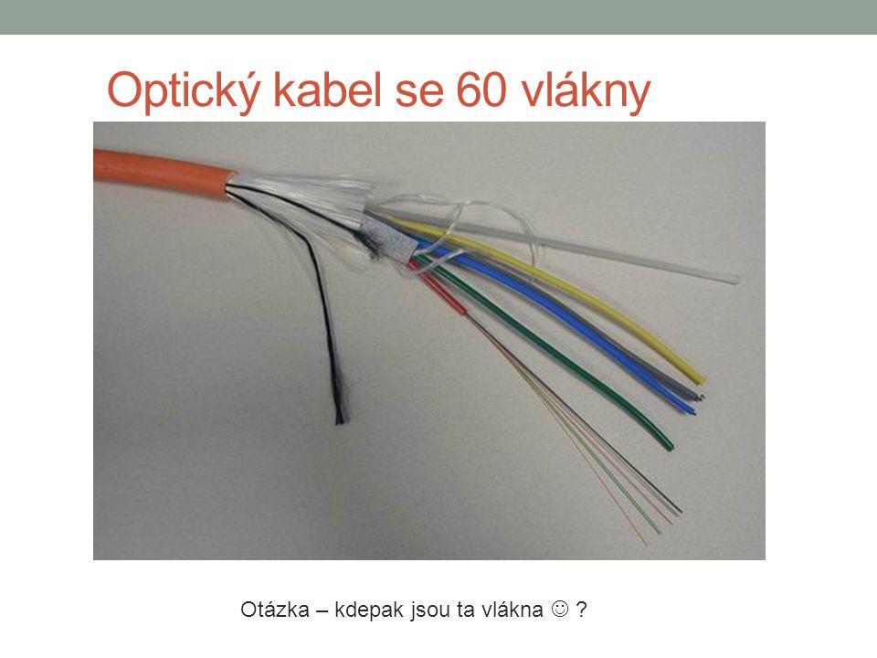 Optický kabel se 60 vlákny Otázka – kdepak jsou ta vlákna ?