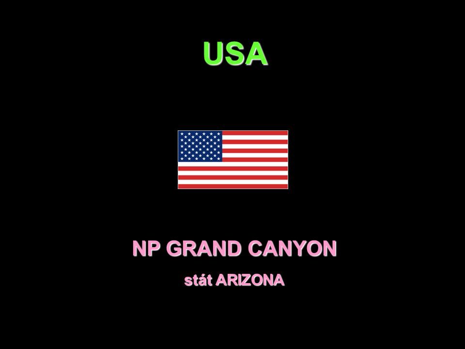 USA NP GRAND CANYON stát ARIZONA