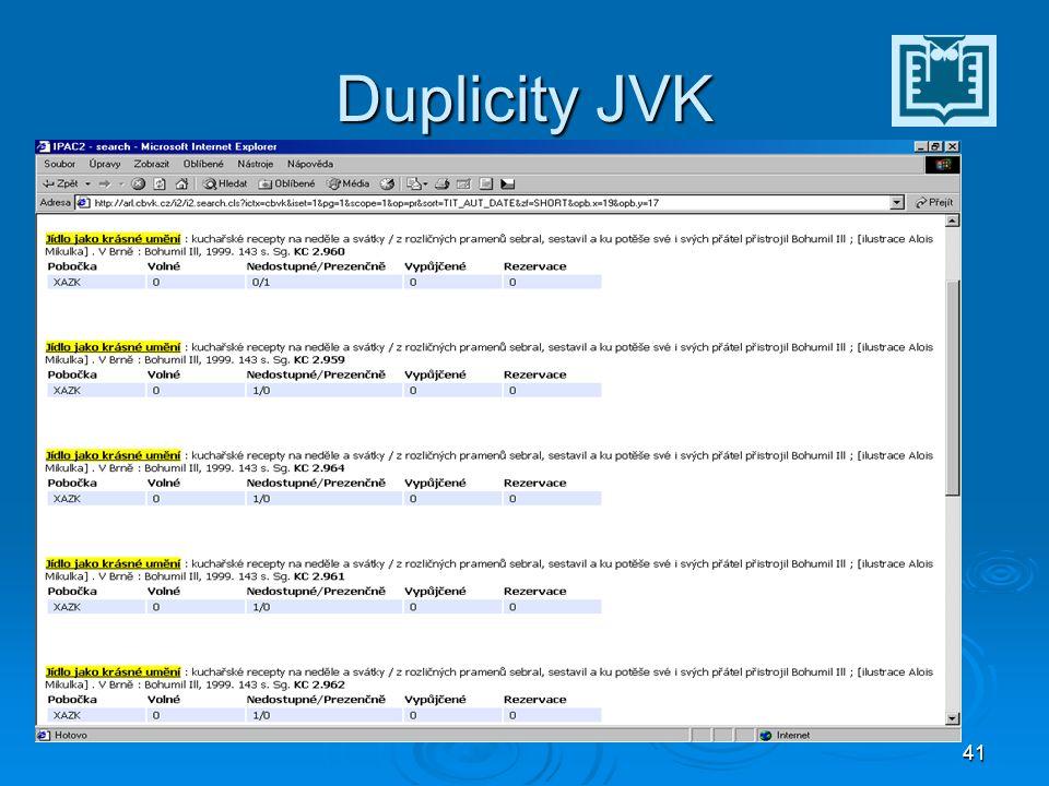 41 Duplicity JVK