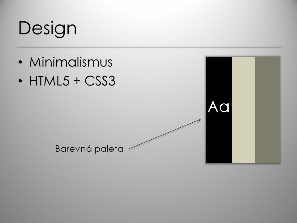 Design Minimalismus HTML5 + CSS3 Barevná paleta
