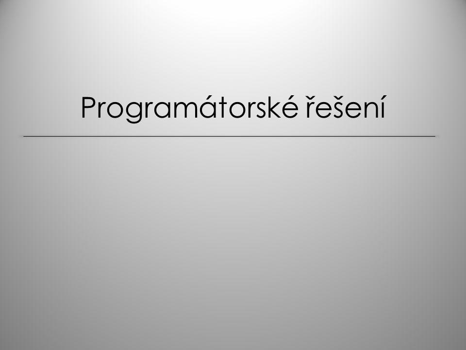 Programátorské řešení