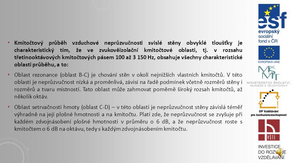 10. 1 POKRAČOVÁNÍ OKENNÍCH OTVORŮ Z HLEDISKA TEPLA, ZVUKU A SVĚTLA Za jednovrstvé konstrukce můžeme z hlediska akustiky považovat takové, u nichž je m