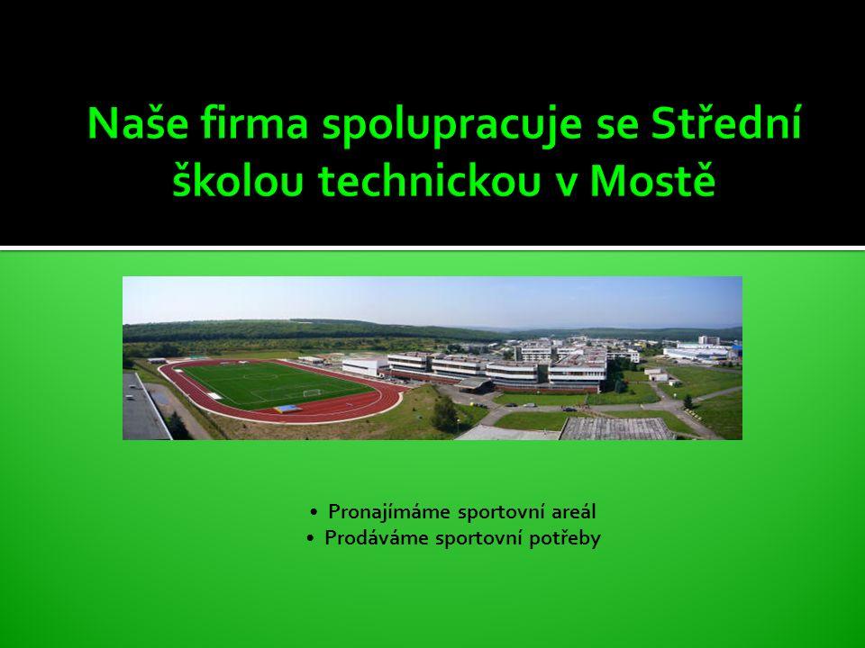 Pronájmy sportovišť Nabízíme pronájem sportovišť Zapůjčíme některé sportovní potřeby Zajistíme trenéra www.sstmost.cz www.klimsport.webone.cz