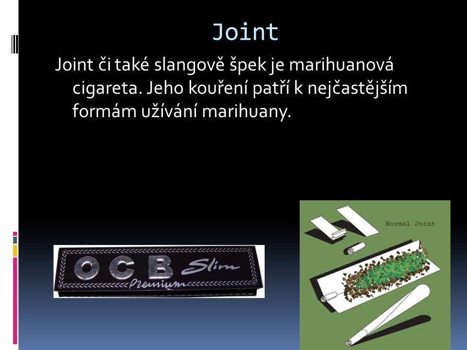 Joint Joint či také slangově špek je marihuanová cigareta. Jeho kouření patří k nejčastějším formám užívání marihuany.