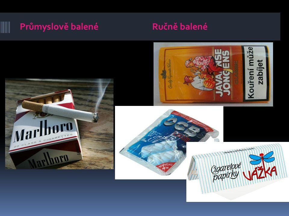 Doutníky Doutník obsahuje tabákovou náplň a krycí list v normální barvě doutníku.