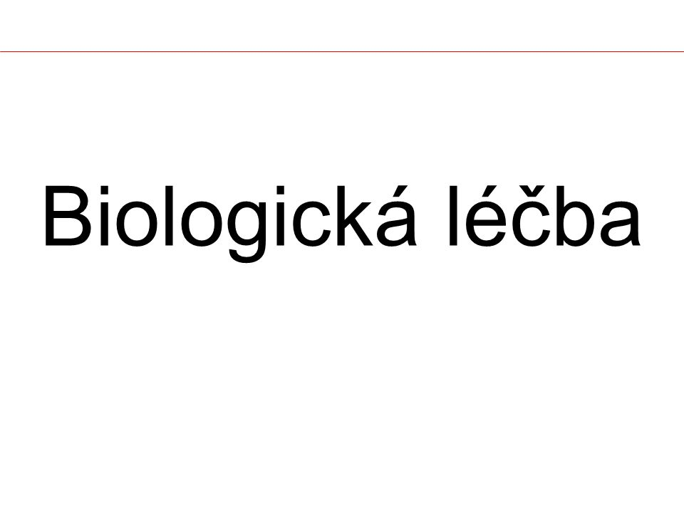 INNTMIndication infliximab*RemicadeRevmatoidní artritida Crohnova nemoc, Ulcerózní kolitida Ankylozující spondylitida Psoriatická artritida, Psoriáza kertolizumab-pegolCertolizumab PegolCrohnova nemoc natalizumab*TysabriRoztroušená skleróza omalizumab*XolairAstma bronchiale palivizumab*SynagisInfekce dolních dýchacích cest způsobené respiračně syncycialním virem (RSV) ranibizumab*LucentisNeovaskulární makulární degenerace rituximab*MabtheraNon-Hodgkinské lymfomy Revmatoidní artritida abciximab*ReoProPTCA, nestabilní angina pectoris trastuzumab*HerceptinKarcinom prsu Biologická léčba (MaB) – souhrn (lI)