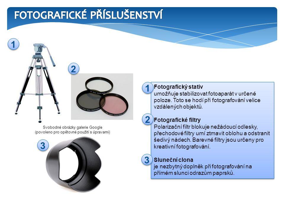 Fotografický stativ umožňuje stabilizovat fotoaparát v určené poloze.