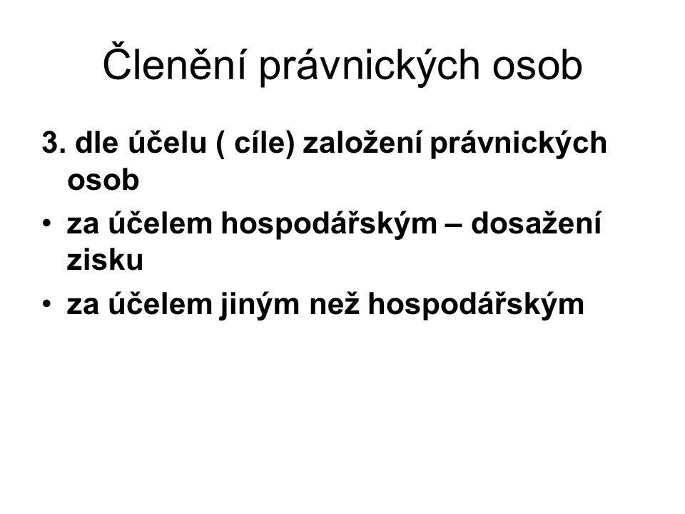 Členění právnických osob 3.
