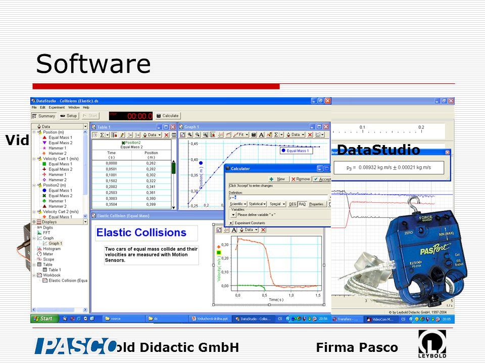 Software VideoCom Motions Firma Leybold Didactic GmbH DataStudio Firma Pasco