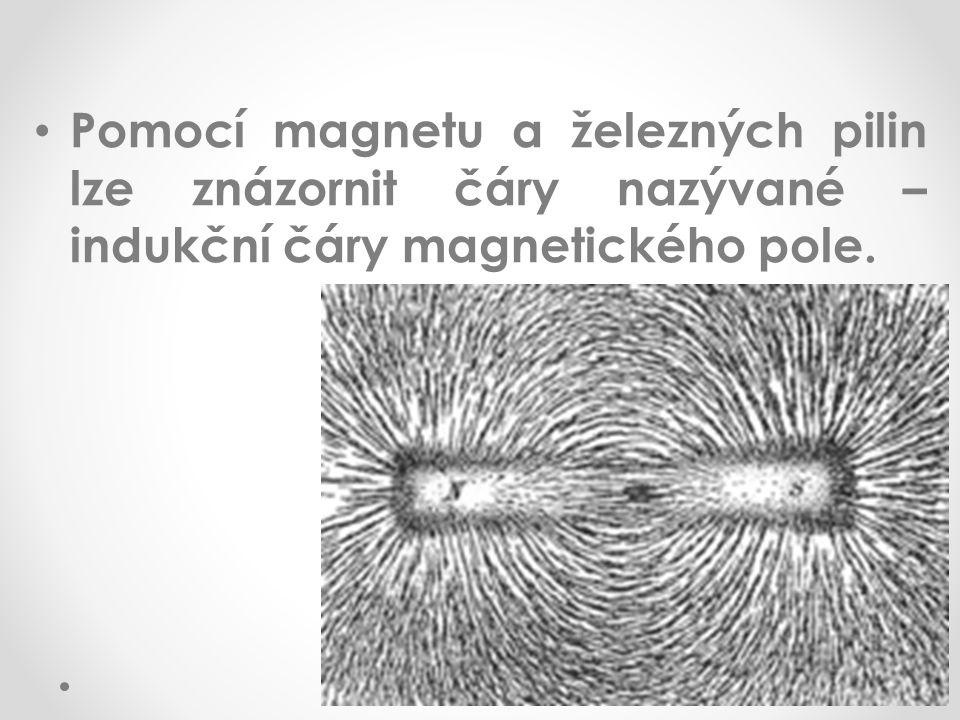 Pomocí magnetu a železných pilin lze znázornit čáry nazývané – indukční čáry magnetického pole.
