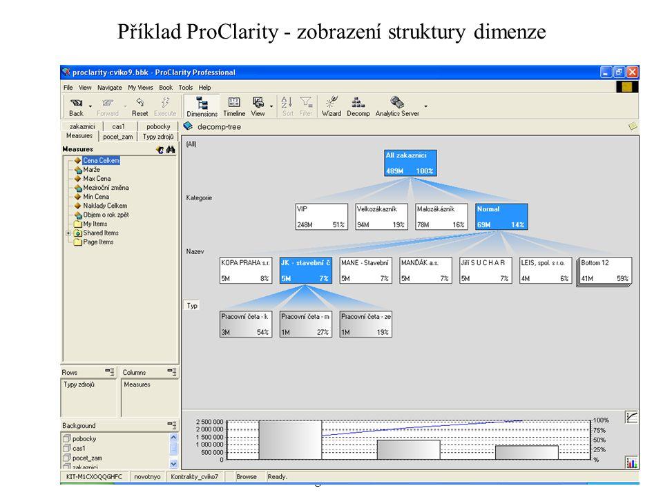 Systémové pojetí hospodářské organizace 5 Příklad ProClarity - zobrazení struktury dimenze