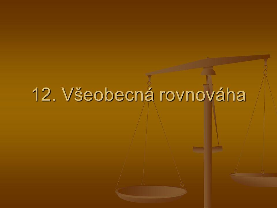 12. Všeobecná rovnováha