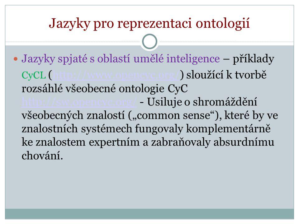 Definování vlastností Vlastnost - binární vztah.