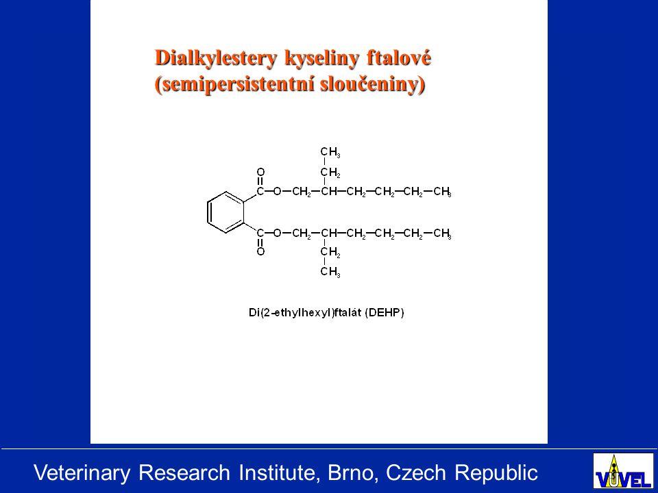 Veterinary Research Institute, Brno, Czech Republic Dialkylestery kyseliny ftalové (semipersistentní sloučeniny)